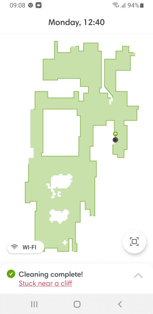 Roomba 960 Mapping